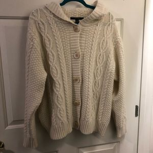Nature's Best 16 100% wool knit cardigan